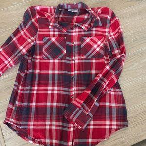 Women's sheer Cotton On button down blouse